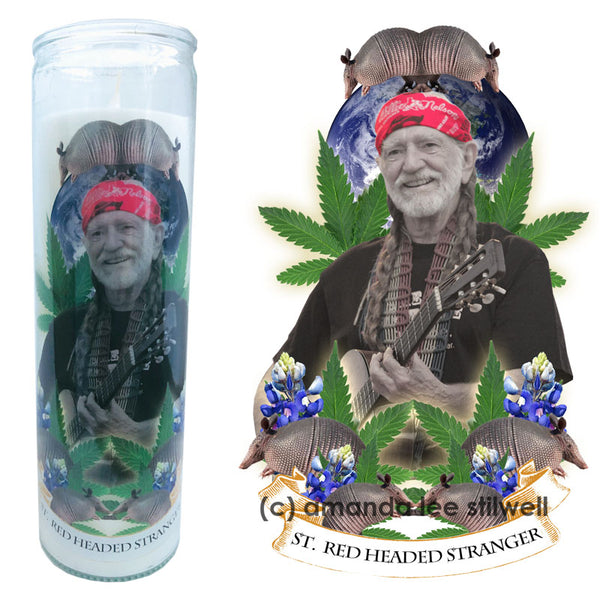 "Pop Culture Altar Candle:  ""St. Red Headed Stranger"""