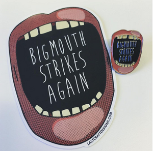 Big Mouth Sticker