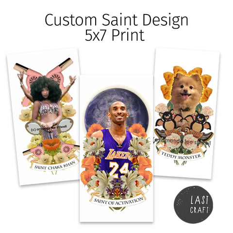 Custom Design 5x7 Print or Candle