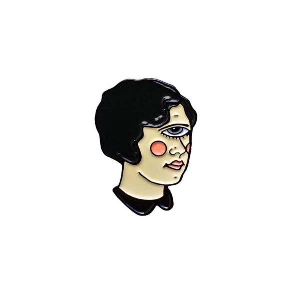 Cyclops Girl Enamel Pin - Violet or Black Hair