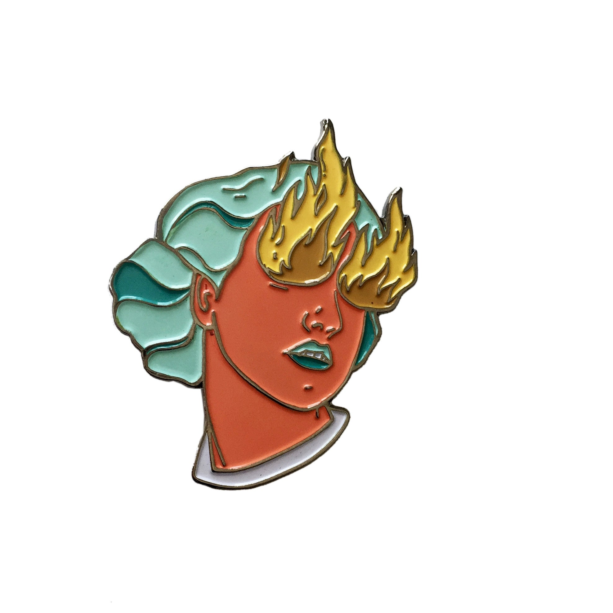 Fire Eye Girl Enamel Pin