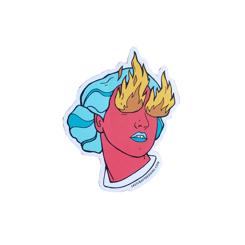 Fire Eye Girl Sticker
