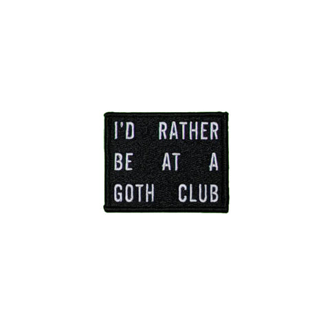 Goth Club Patch