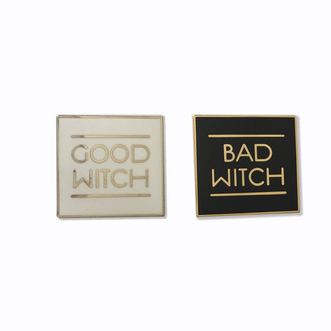 Good Witch / Bad Witch Enamel Pin - SIX OPTIONS!