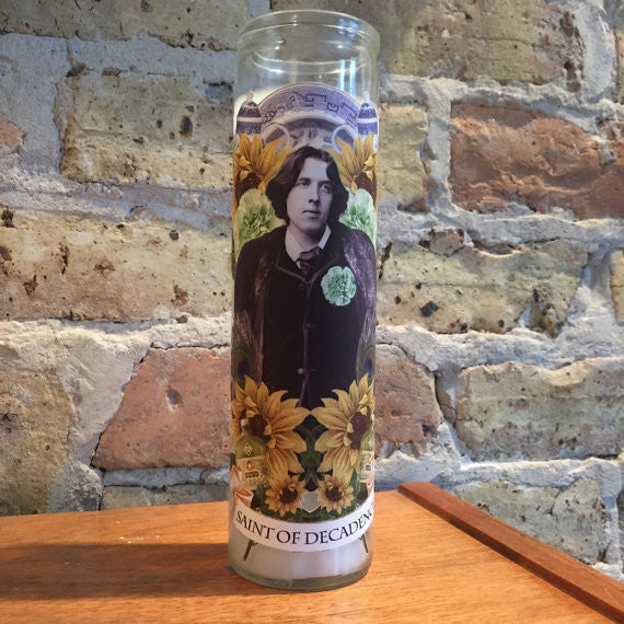 Oscar Wilde Altar Candle: Saint of Decadence