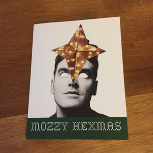 "Morrissey Christmas Card ""Mozzy Hexmas"" SINGLE CARD"