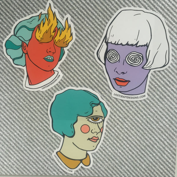 Cyclops Girl Sticker