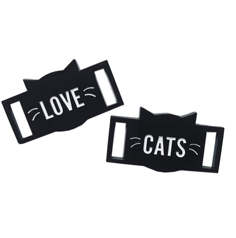 Shoe Accessories - Love Cats Lace Locks Set (2 pieces)