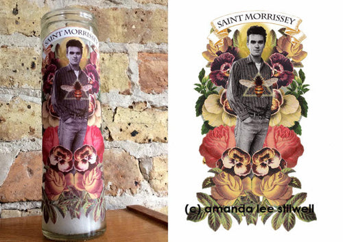 "Pop Culture Altar Candle:  ""Saint Morrissey"""