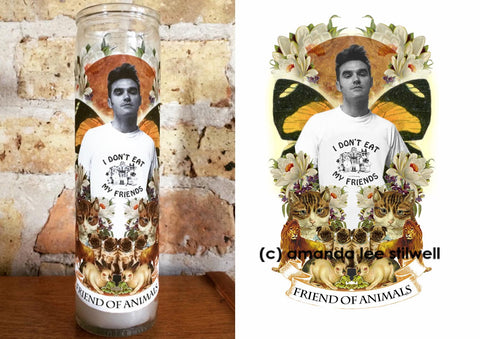 "Pop Culture Altar Candle:  ""Friend of Animals"""