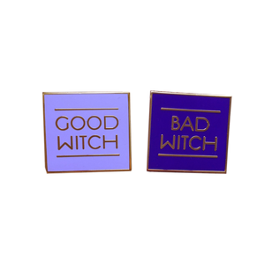 Good Witch OR Bad Witch Enamel Pin - PURPLE