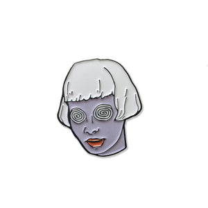 Spiral Eyes Girl Enamel Pin