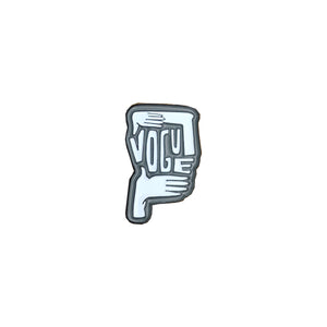 Vogue enamel pin