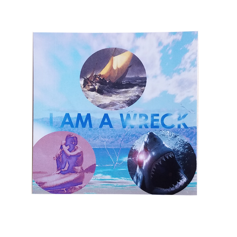 I AM A WRECK Sticker