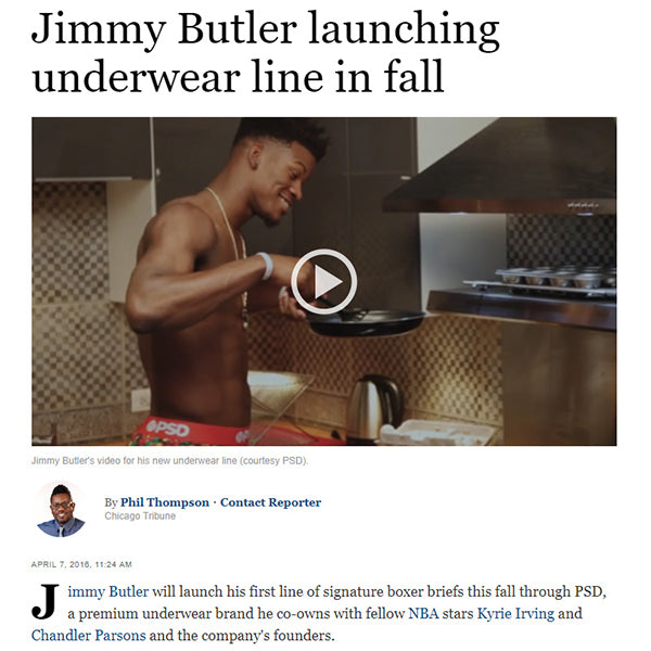Chicago Tribune Jimmy Butler and PSD Underwear Boxer Collection