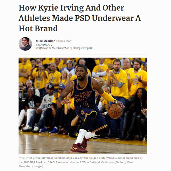Forbes Interview with Kyrie Irving about PSD Underwear