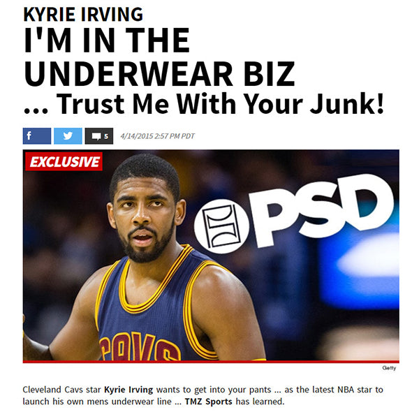 TMZ Sports - Kyrie Irving and PSD Underwear Boxer Brief Collection