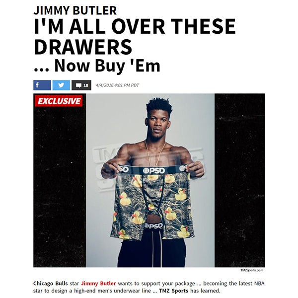 TMZ Sports - Jimmy Butler and PSD Underwear Boxer Brief Collection