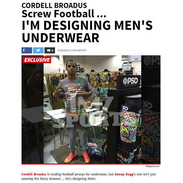 TMZ Sports - Cordell Broadus and Snoop Dogg for PSD Underwear Boxer Brief Collection