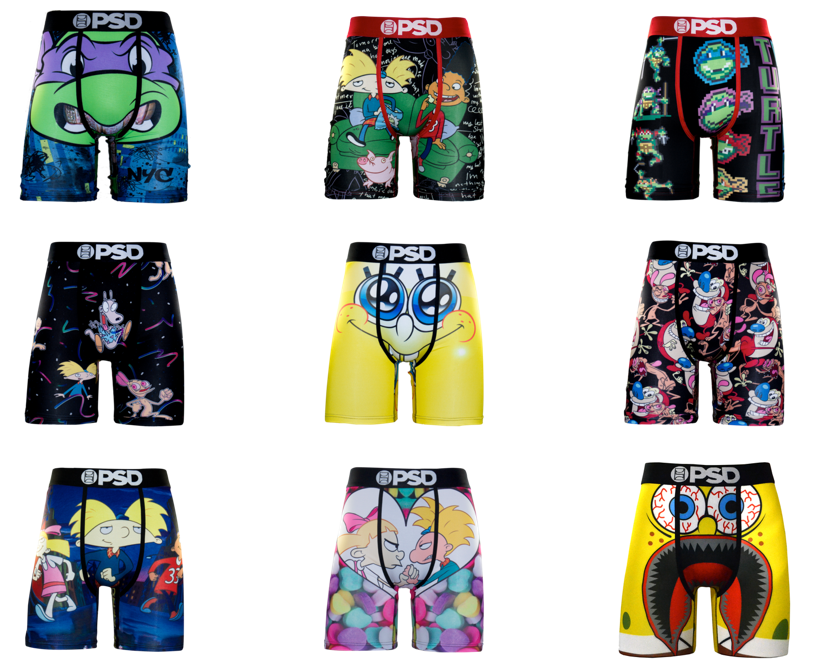 PSD underwear x nickelodeon collection
