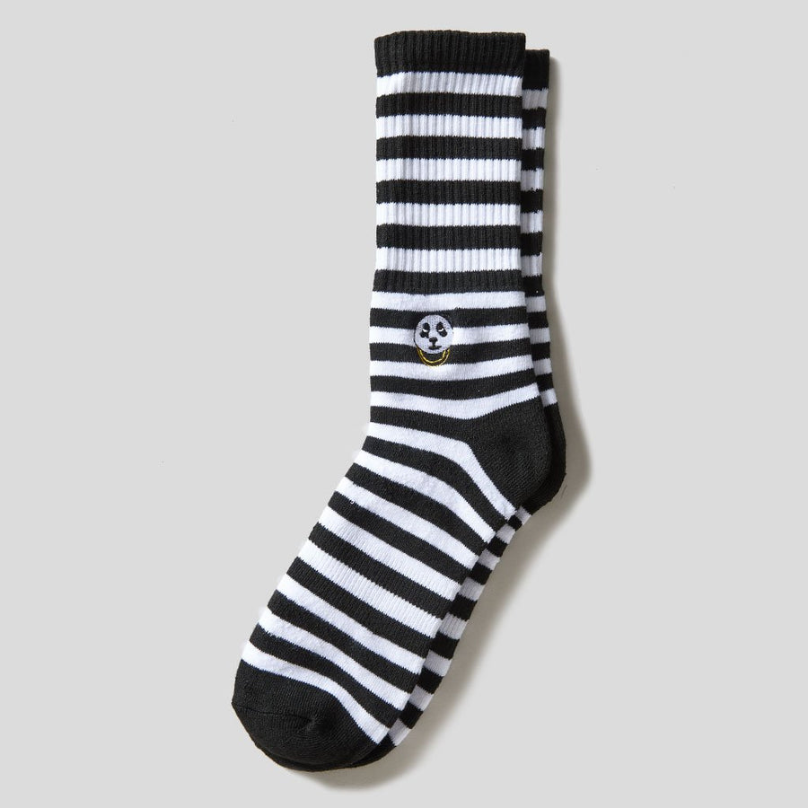 Black & White Stripe Panda Socks