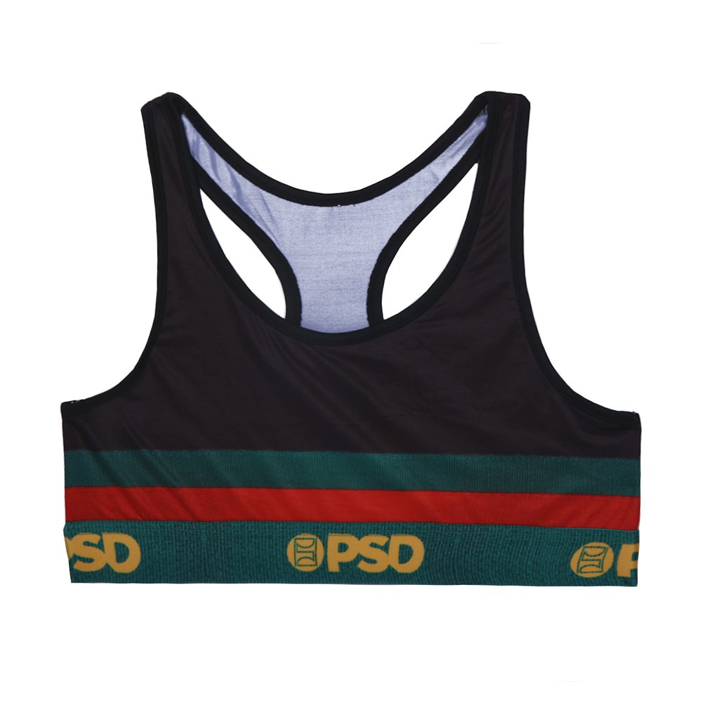 723cc61d6e8c5 Green Red Gold - Sports Bra - PSD Underwear