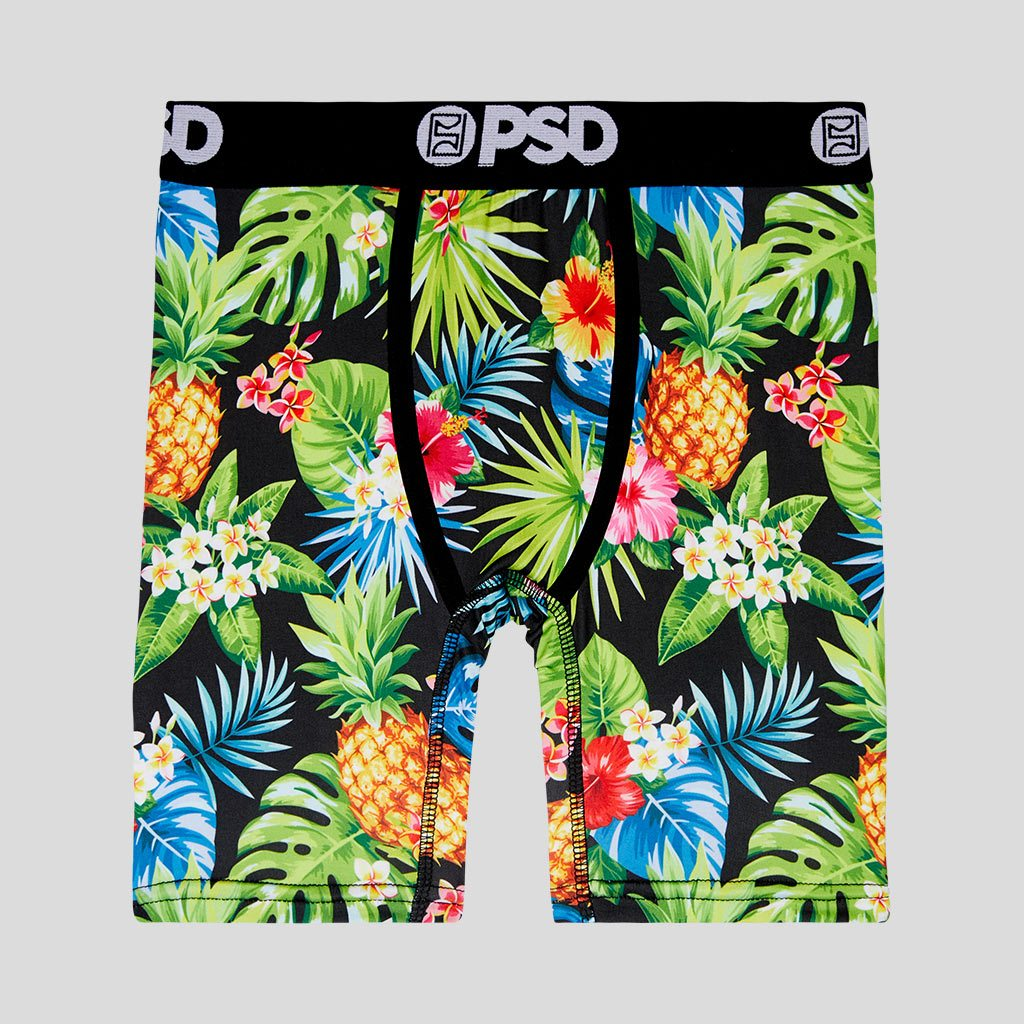 Mens Pineapple On White Background Underwear Boxer Briefs Ultra Soft Comfortable