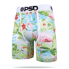 Tan Flamingos Print Men's Boxer Briefs from PSD Underwear