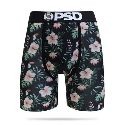 Toucan Floral Pattern Men's Boxer Brief