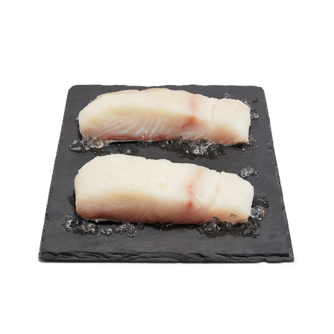 Wild Halibut Fillets, skinless, boneless, 500-700g, 1 pce/pack, price/pack, frozen