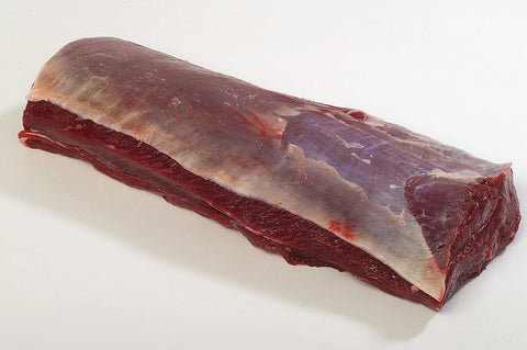Venison Shortloin (Boneless NY Strip), skin on, 990g, price/portion, frozen