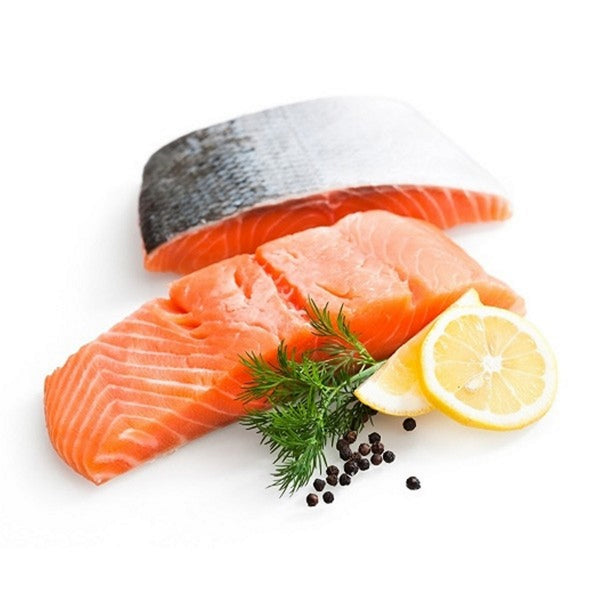Frozen Wild Alaskan Sockeye Salmon Fillet Portions, Skin on Bone out, approx 190g portion vacuum packed, price per portion