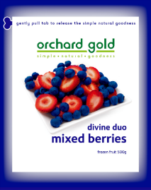 Orchard Gold Devine Duo Mixed Berries, 500g, price/pack, frozen