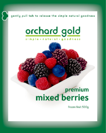 Orchard Gold Premium Mixed Berries, 500g, price/pack, frozen
