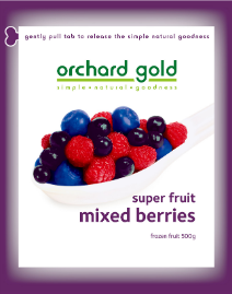 Orchard Gold Super Fruit Mixed Berries, 500g, price/pack, frozen