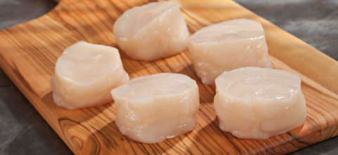 Frozen Scallop Medallion Meat (21/25), price/1kg pack