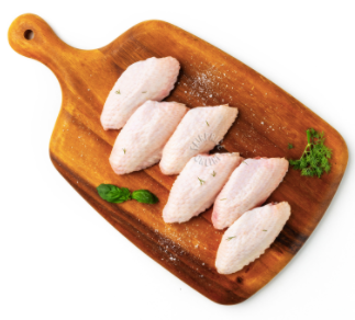 Fresh Organic (Halal) Mid Joint Wings, 500g pack (12-14 pcs)