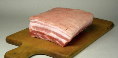 Frozen Pork Belly Roast, Skin On, 1kg