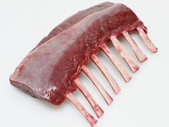 Venison (8 Rib) Frenched Rack (cap off), 1.08kg, price/portion, frozen
