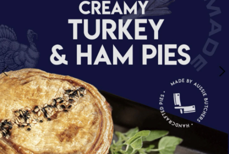 Creamy Turkey & Ham Pie, (2 x 160g), frozen
