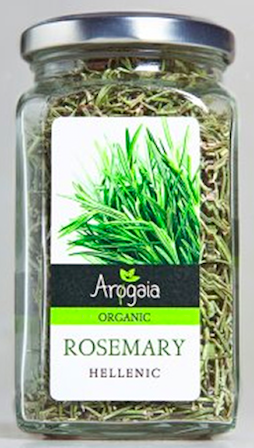 Arogaia Organic Rosemary in a Glass Jar, 50g