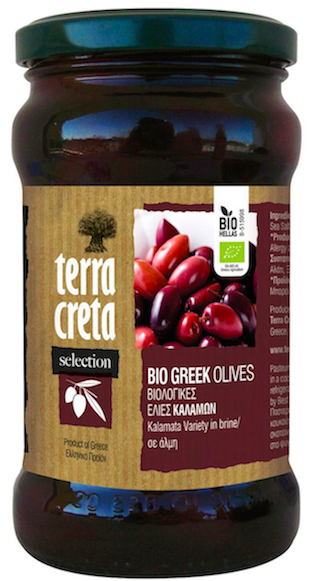 Organic Kalamata Green Olives (Terra Creta) - Unpitted 315ml