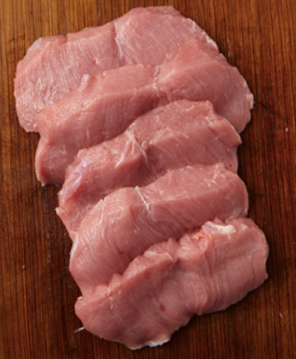 Frozen Milk Fed Veal Tenderloin Portions, price per 1kg pack