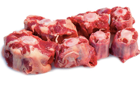 "Frozen Oxtail Cut 40mm (1.5"") End To End - 1kg pack"