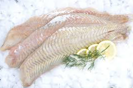 Wild Hake fillet, skin-on, boneless, price/650g, frozen