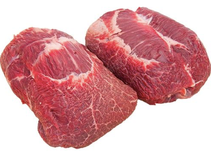 Frozen Beef Cheeks (2 wholes), boneless, approx 420g each (840g per 2 pces), price per 2/pack
