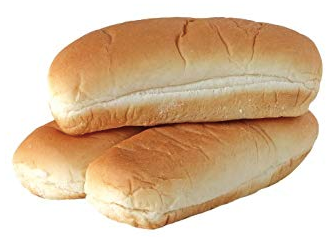 10 only Hotdog Buns, 85g, 152mm / 6 inch long, price per 10
