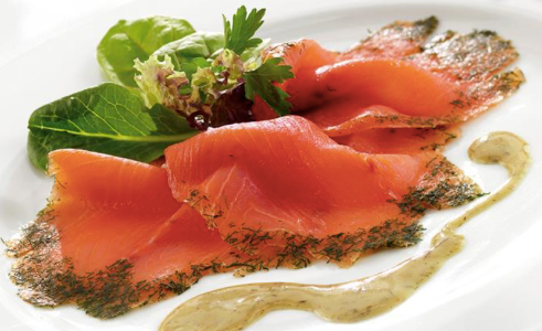 Cold Smoked Salmon Slices, frozen, skin off, 114g per pack
