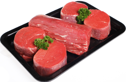 4 packs (value pack) Chilled Angus Beef Eye Fillet Steak (Tenderloin/Fillet), 500-550g pack (2 pces), price per 4 pack (2-2.2kg)