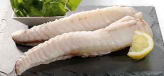 Fresh Wild Monkfish Fillets, 230-280g, boneless, skinless, price/pack